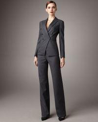 Giorgio Armani | Gray Pinstripe Suit | Lyst