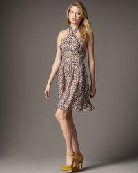 Issa | Multicolor Printed Halter Dress | Lyst