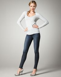 J Brand | Blue 901 Waxed Smokestack Leggings | Lyst