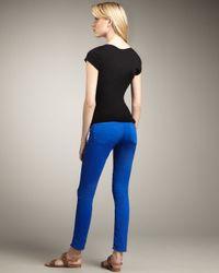 J Brand - Blue 811 Mid-rise Skinny Twill Jeans, Royal - Lyst