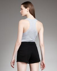 J Brand - Black Dita High-rise Shadow Shorts - Lyst