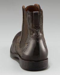 John Varvatos - Brown Ago Chelsea Wing-tip Boot for Men - Lyst