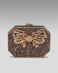 Judith Leiber | Metallic Hexagonal Bow Minaudiere | Lyst