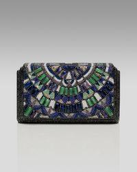 Judith Leiber   Multicolor Houston Semiprecious & Crystal Beaded Clutch   Lyst