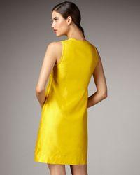 kate spade new york - Yellow Brenda Ruffle-placket Dress - Lyst