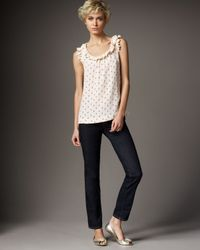 kate spade new york | Blue Broome Street Skinny Jeans | Lyst