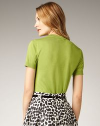 kate spade new york | Green Kit Bow-pocket Sweater | Lyst
