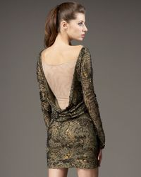 Mandalay - Green Sequin Scoop-back Dress - Lyst