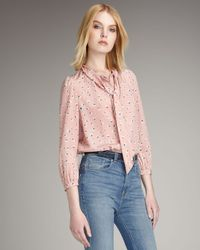 Marc By Marc Jacobs | Pink Kristi Tie-neck Top | Lyst