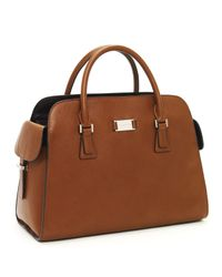 Michael Kors | Brown Gia Satchel, Cinnamon | Lyst
