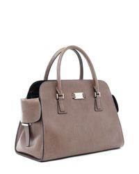 Michael Kors | Brown Michael Gia Satchel Elephant | Lyst