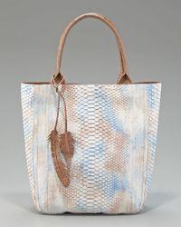 Nancy Gonzalez | Blue Python Leaf Tote | Lyst