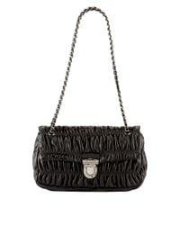 Prada - Natural Napa Gaufre Chain Shoulder Bag - Lyst