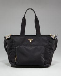 Prada | Black Vela Baby Bag | Lyst