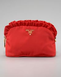 Prada | Black Ruffle Cosmetic Case | Lyst