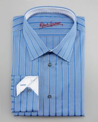 Robert Graham | Blue Chuck Striped Dress Shirt for Men | Lyst