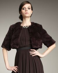 Robert Rodriguez | Brown Faux-fur Cropped Jacket | Lyst