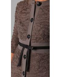 Robert Rodriguez - Brown Crinkle Chiffon Long Coat - Lyst