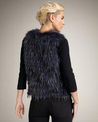 Royal Underground | Blue Tie-waist Fur Vest | Lyst