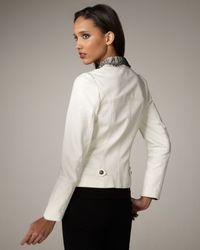 Royal Underground - White Lace-trim Leather Jacket - Lyst