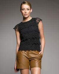 See By Chloé | Black Lace Blouse | Lyst