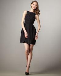 Shoshanna - Black High-neck Full-skirt Dress - Lyst