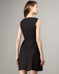 Shoshanna | Black High-neck Full-skirt Dress | Lyst
