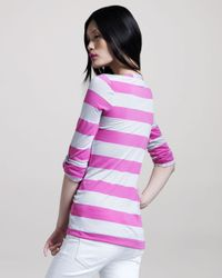 Splendid | Purple Rugby-striped Henley Top | Lyst