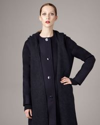 Stella McCartney | Blue Detachable-scarf Wool Coat | Lyst