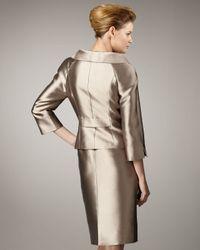 Tahari | Metallic Shawl-collar Shantung Suit | Lyst