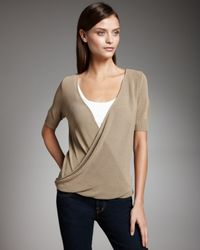 Theory | Natural Crossover Sweater | Lyst