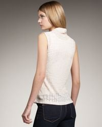 Theory - Natural Derona Woven Stretch Silk Top - Lyst