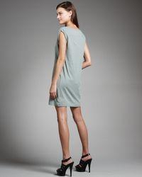 Theory - Green Pima T-shirt Dress - Lyst