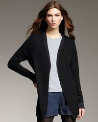 Theyskens' Theory | Black Cashmere Cardigan | Lyst