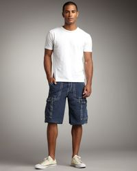 True Religion | Blue Isaac Cargo Shorts for Men | Lyst