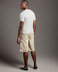 True Religion - Natural Isaac Cargo Shorts for Men - Lyst