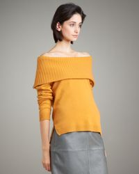 TSE - Yellow Cashmere Convertible-collar Sweater - Lyst