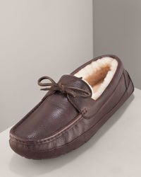 UGG - Brown Byron Slipper, Chocolate Leather for Men - Lyst