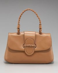Valentino | Brown Vitello Braided-handle Bag, Camel | Lyst