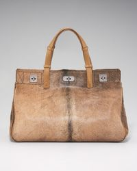 VBH - Brown Calf-hair Tote - Lyst