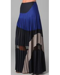 BCBGMAXAZRIA - Blue The Nouveau Pleated Skirt - Lyst