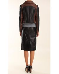 Tibi - Black Shearling Biker Jacket - Lyst