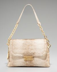 Rachel Zoe | Natural Audrey Snake-embossed Shoulder Bag | Lyst
