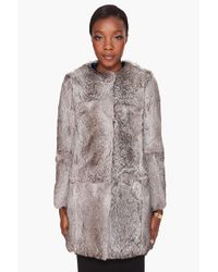 3.1 Phillip Lim | Natural Grey Fur Coat | Lyst