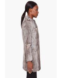 3.1 Phillip Lim - Natural Grey Fur Coat - Lyst