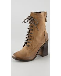 Boutique 9 | Brown Dustan Combat Booties | Lyst