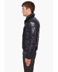 DIESEL - Black Widol Puffer Jacket for Men - Lyst