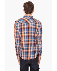 DIESEL - Blue Skelt Button Down Shirt for Men - Lyst