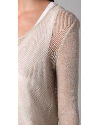 Helmut Lang - White Asymmetrical Hem Sweater - Lyst