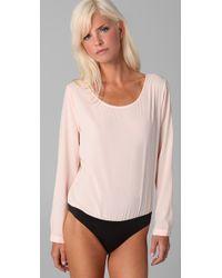 Kova & T | Pink Paisley Long Sleeve Bodysuit | Lyst
